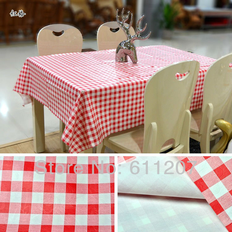 HOT ~ High quality wholesale PVC New Arrival table linen/tea table cloth 140*220cm(China (Mainland))