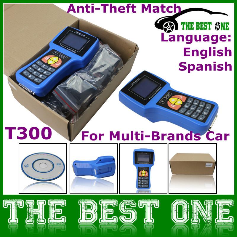 Sale! T300 Key Programmer Auto Transponder 2015 Latest V15.8 T Code T 300 Universal Chip Key Decoder Read IMMI/ECU ID A+ Quality(China (Mainland))