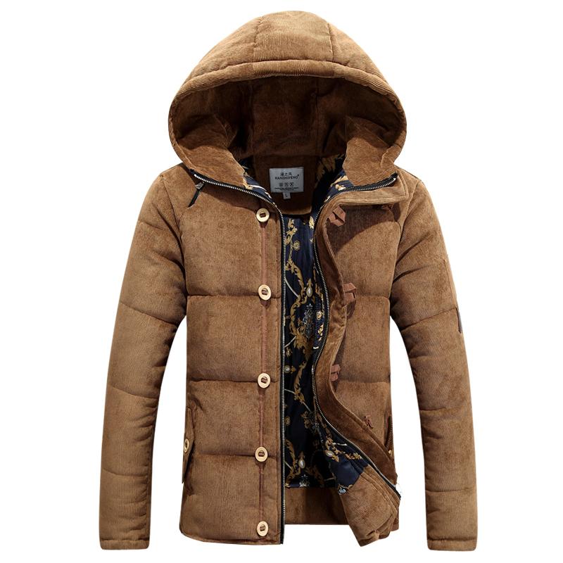 Korean Winter Men Warm Jackets Plus Size M--3XL Good Quality Cotton-Padded Outerwear 2015Man Fashion Parkas Brand Coats - Q-IMAGE LANQIAO Store store