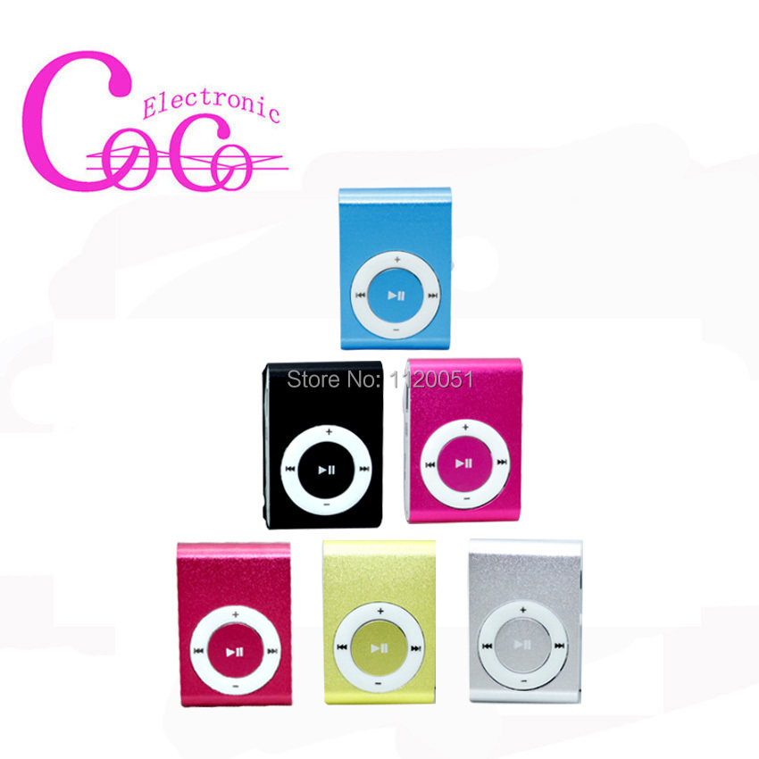 MINI MP3 Player Clip type with USB earphone metal TF card mp3 support TF card 0