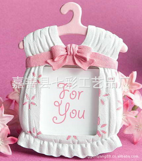 2016 hot fas hion resin baby shower clothes pattern baby photo frame