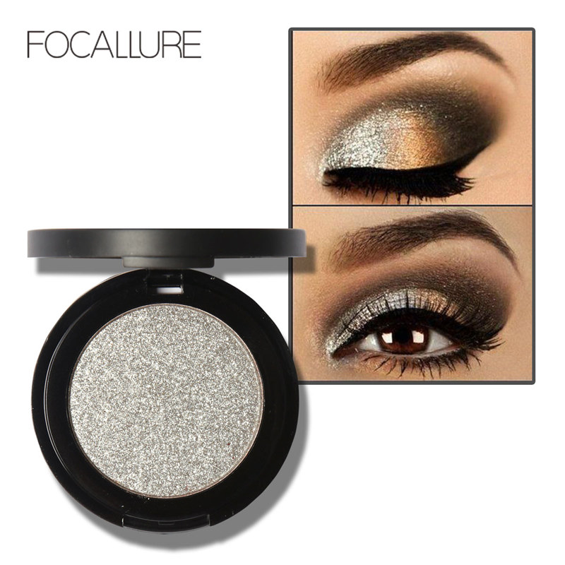 FOCALLURE Professional Glitter Eyes Pigment Single Eyeshadow Palette Minerals Makeup Eye Shadow Waterproof(China (Mainland))