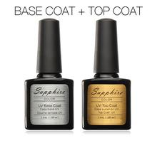 2pcs set Sapphire Diamond Nail Gel Top Coat Base Coat Primer Coat Foundation for UV Shining