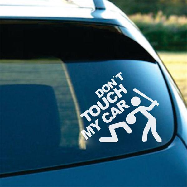 Не трогайте мою автомобиля цитата наклейки каваи человек сверло украшения дома этикеты автомобиля укладка декоративные виниловые обои