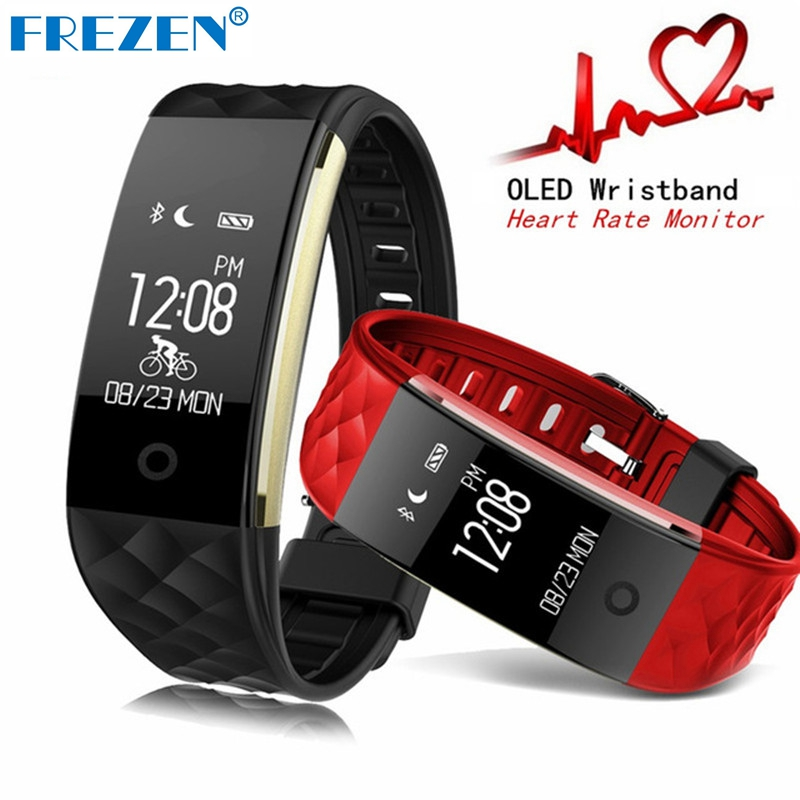 FREZEN S2 Smart Band Bracelet Fitness Tracker IP67 Waterproof Real Time Heart Rate Wristband Android IOS PK miband 2 F1 V07