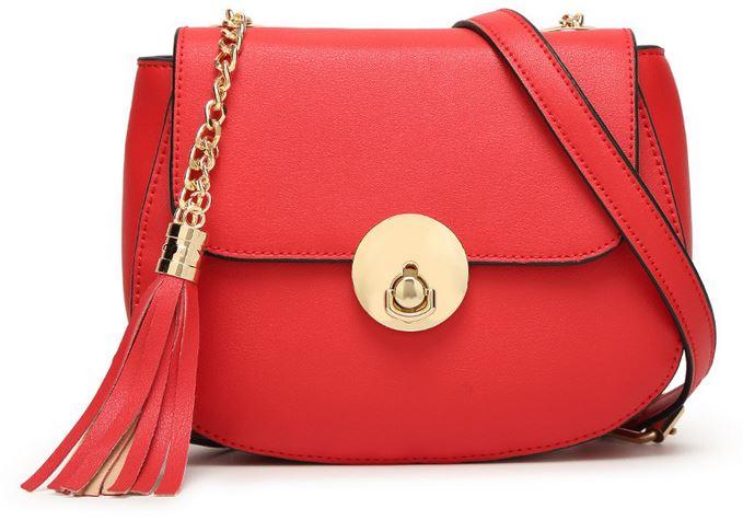 Hot Sale Female Chain Tassel Saddle Bag Fashion Small Crossbody Bags For Women New Designer Fringe Cover Shoulder Strap Bag C055(China (Mainland))
