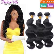 Queen Hair Store Cheap Brazilian Virgin Hair Body Wave 3Pcs Brazilian Hair Weave Bundles Aliexpress Coupon Human Hair Extensions(China (Mainland))