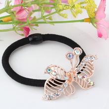 Free Shipping New 2016 Korean Original Elastic Rubber Band Hair Accessories Diamond Pearl Hair Rope Alloy Accessory Maker