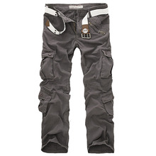Free Shipping 2014 Outdoor Fashion Mens Cargo Pants Casual Sport Trousers Military Training Overalls Army Combat Slacks
