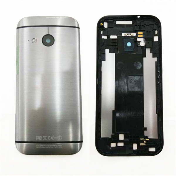 Original mobile phone shell for HTC one mini 2 M8 mini housing battery cover back case door with power button and side bottons(China (Mainland))