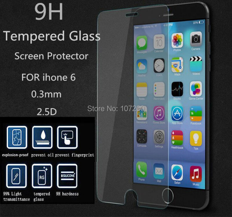 Lino iPhone6 Premium Tempered Glass Screen Protector HD Toughened Protective Film Ultra Thin 0.3mm Retail package - Electronics Mall store