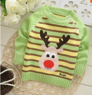 2014 Spring Autumn baby boys girls cartoon cow knitted sweater,children pullovers,kid sweater#JZ454C
