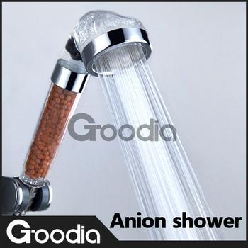 [GOODIA]-SPA Filter Pressurize Water-Saving Anion Shower Head,Quartz Watch,Bathroom Rainfall Rain Shower chuveiro Set banheiro