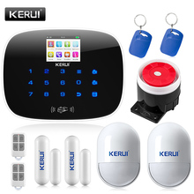 KERUI G19 TFT Large Screen Display GSM Dialer Wireless Home Security Alarm System with RFID Tags Intelligent Switch Control(China (Mainland))