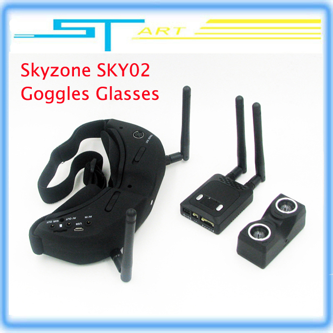 Здесь можно купить  Skyzone SKY02 V2 AIO 3D FPV 32CH 5.8G Diversity receiver Goggles Built-in 3D/ 2D mode  head tracking and camera Low shipping  Игрушки и Хобби