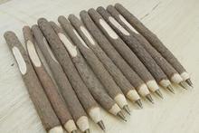 4PCS/lot NEW Vintage handmade wooden Environmental ball pen twig ballpoint pen nice gift wedding pen school office supplies(China (Mainland))