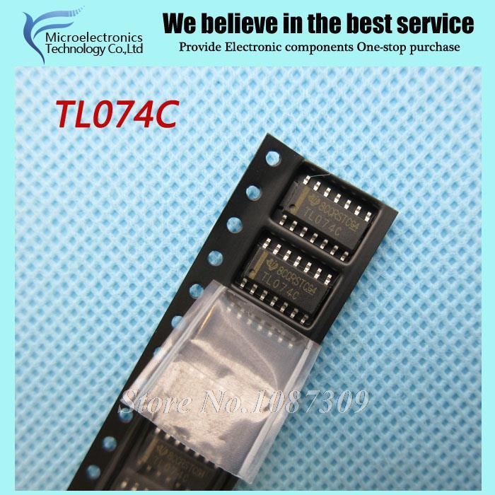 50pcs free shipping TL074C TL074CDR TL074 SOP-14 Operational Amplifiers - Op Amps Quad Low Noise JFET new original(China (Mainland))
