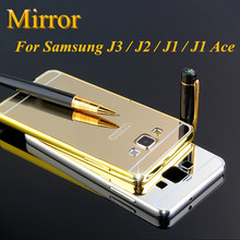 Edge Metal Aluminum + Acrylic Hard Mirror Back Bumper Samsung Galaxy J 3 2 1 J3 J2 J1 Ace Hybrid Cover Ultra Thin 1mm Cases - An Co.,LTD. store