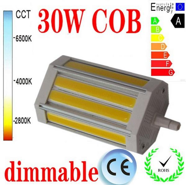Гаджет   High power 118mm led R7S light 30W J118 dimmable COB R7S lamp with No noise cooling Fan replace 300W halogen lamp Fan None Свет и освещение