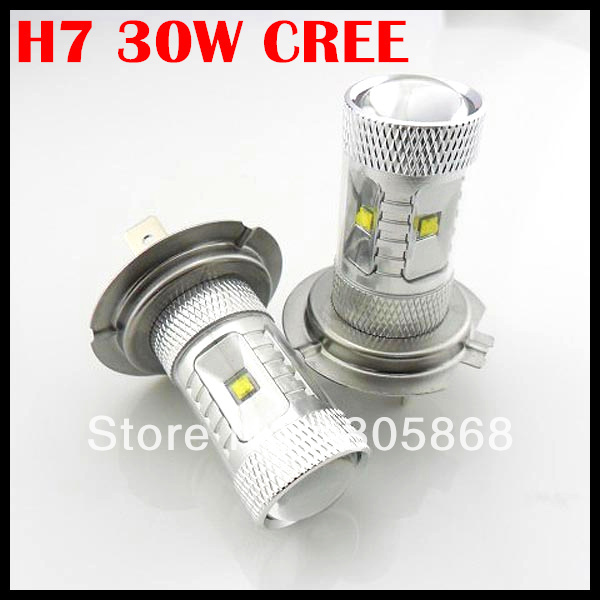 Free Shipping!!! 2pcs/lot H7 6*5W CREE Car LED Fog Light, H7 LED 30W CREE With Clean Lens 1156 3156 H7 H8 H11 9005(China (Mainland))