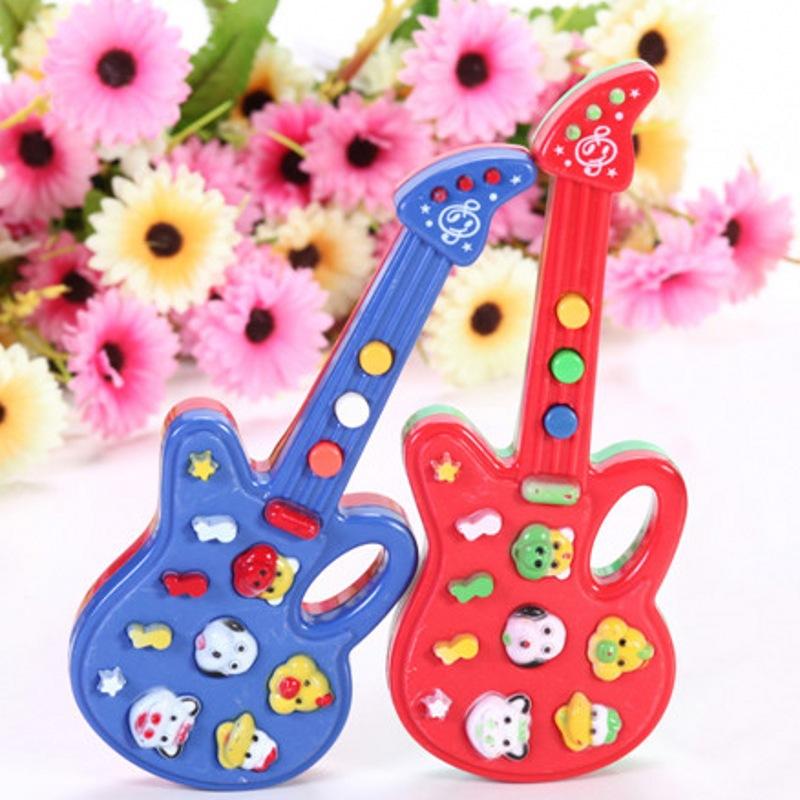 2015 New Designer Children Electronic Guitar Toy Nursery Rhyme Music Children Baby Kids Toy Gift(China (Mainland))