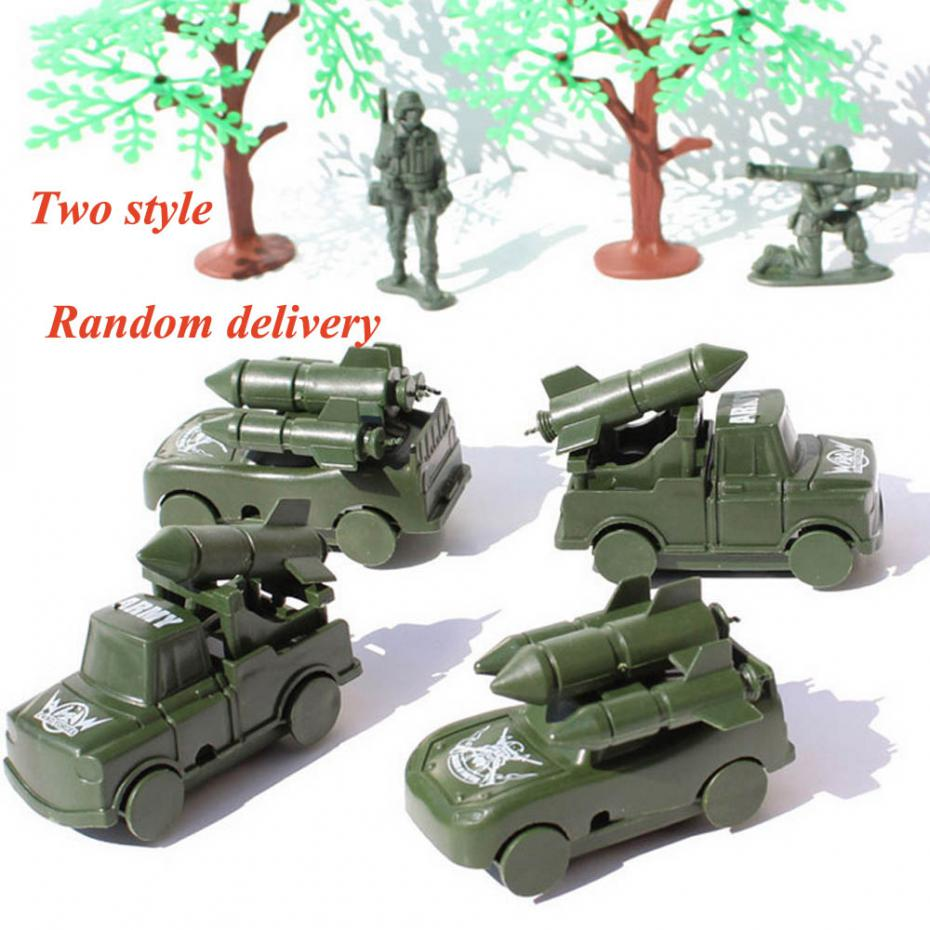 CHBR22 4 pcs Military Missile Cars Trucks Army Men Toy Soldier Accessories new(China (Mainland))