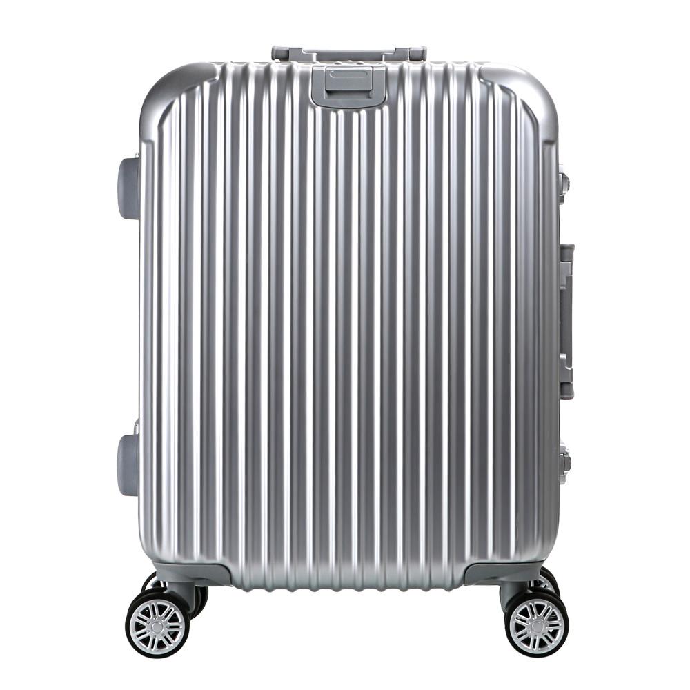 20inch Fashion Aluminum Edged PC HardShell 4 Wheels Travel Trolley Cabin Luggage(China (Mainland))