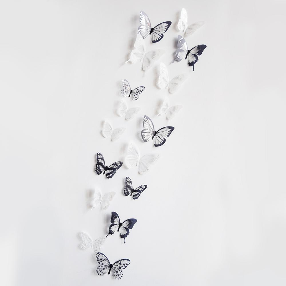 Gang fight explosion models 18 set 3D free wall stickers stickers, children bedroom background wall decorative Butterfly(China (Mainland))