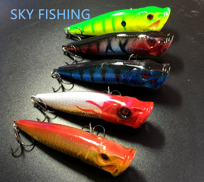 Hot sale 5pcs 10cm 12g popper fishing lures hard bait top for Fishing tackle sale