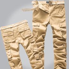 2016 Plus Size High Quality Summer Style Khaki Joggers Mens Khaki Pants Jogging Pants Men Joggers Pants Cotton Long Trousers