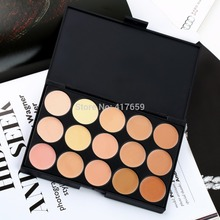 1 PCS Professional 15 Color Camouflage Facial Concealer Palettes Neutral Makeup Eyeshadow Cosmetic