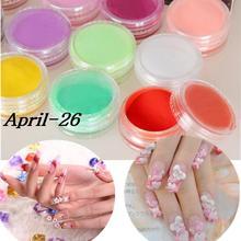 12 Colors Nail Art Tips UV Gel Acrylic Powder Dust Builder Design 3D Decoration Manicure Professional(China (Mainland))