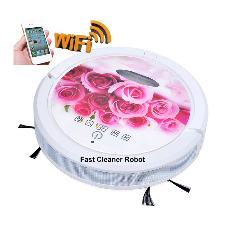 WIFI APP Floor Vacuum Cleaner Robot Limpiador Dry and Wet Household Cleaner Robot Vacuum Odkurzacz Automatyczny Sweeper(China (Mainland))