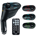 Newest Wireless Car Mp3 Player Fm Transmitter Usb Modulator with Usb Sd Mmc Lcd Remote Car