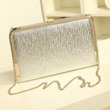Fashion Women Evening Party Bags Bling Gold Silver Shimmering Large And Small Two Size Day Clutch Dinner Purse Wedding Bride Bag(China (Mainland))