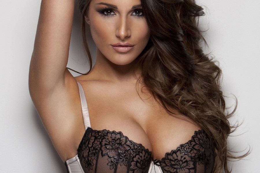 Football Baby Lucy Pinder sexy poster girl model fabric silk poster printing Home Decoration great pictures on the wall24x36inch(China (Mainland))