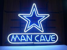 "17""x14"" MAN CAVE REAL GLASS NEON LIGTH BEER BAR STORE PUB CLUB SIGN(China (Mainland))"