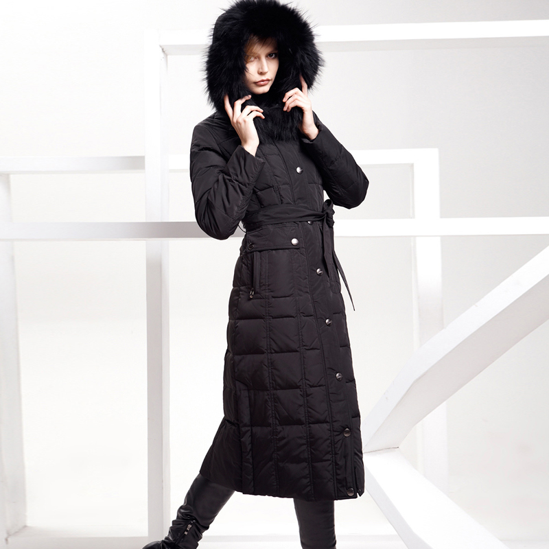 Down coat long paragraph female ultra over-the-knee plus size fur collar Women down coat thickening slimОдежда и ак�е��уары<br><br><br>Aliexpress