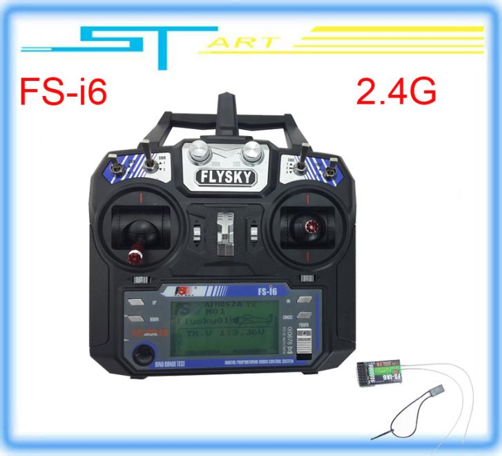 10pcs 2014 New Version FS FlySky FS-i6 2.4G 6ch Transmitter and Receiver System LCD screen for RC helicopter Drop children toys<br><br>Aliexpress