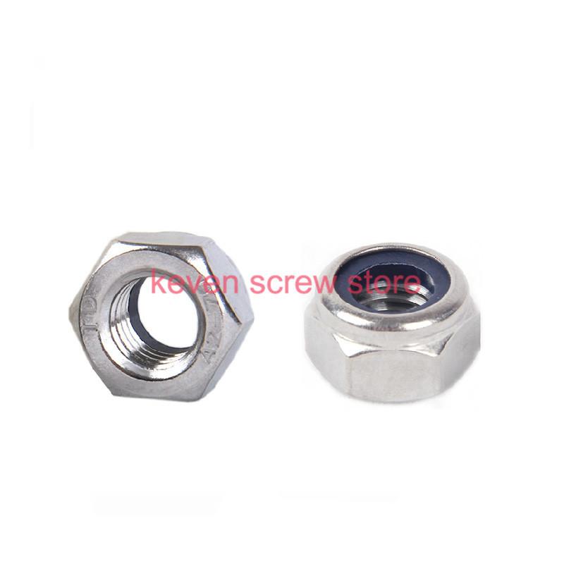 Гаджет  Free shipping 100pcs/lot Metric M2 304 Stainless Steel Hex Head Nylon Insert Lock Nuts None Аппаратные средства