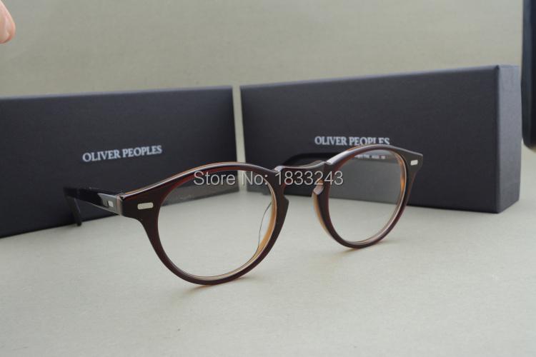 Free shipping Vintage optical glasses frame oliver peoples eyeglasses Gregory peck eyeglasses for women and men eyewear frames(China (Mainland))