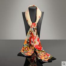 high quality chinese style scarf Satin scarf female long fashion scarf women chiffon scarf digital printing towell-b206