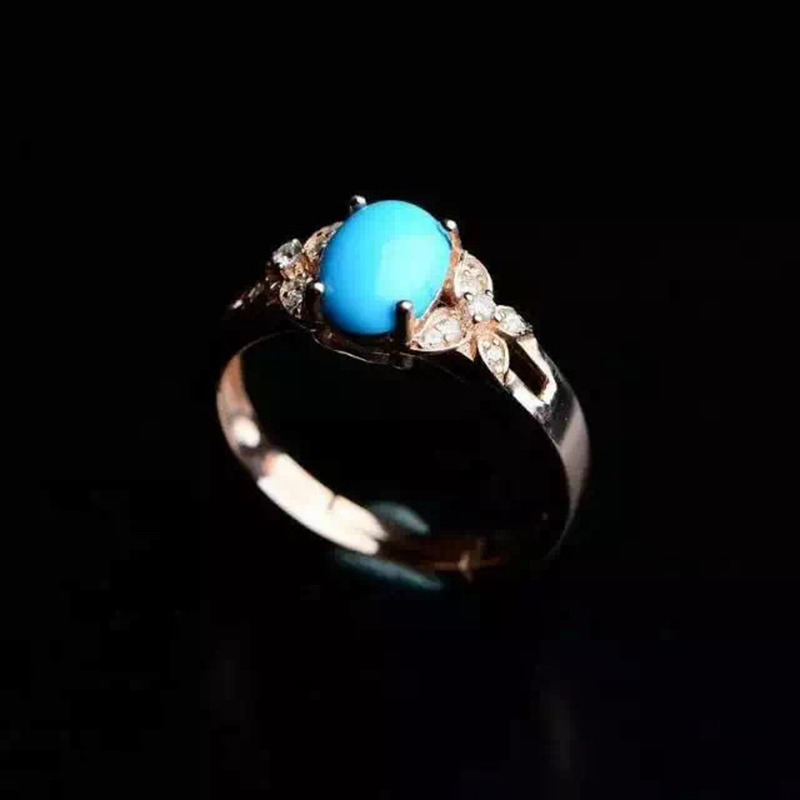 2016 new fashion women rings mysterious natural turquoise stone ring 925 Solid Sterling Silver geme Jewelry best gift for woman <br><br>Aliexpress