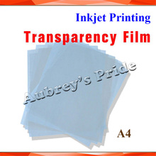 10Pcs Brand New A4 Size (297x210mm) Inkjet Printer Printing Transparency Film ,(China (Mainland))