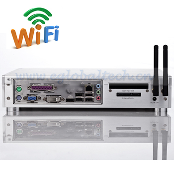 PC Network Terminal Share Intel D2550 Economic Personal Computer 4G DDR3 160G HDD add Wireless Thin Client PC