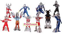 Pop Classic Japanese Anime PVC Ultraman VS monster action figures Generation 9/10 10pcs/set Toys For Collection