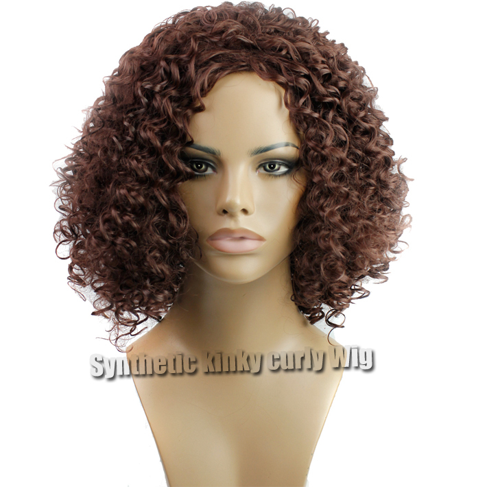 Cheap Short Synthetic Kinky Curly Wig 33# Rich Copper Red Afro Kinky Curly Synthetic Wigs For Black Women High Temperature Fiber<br><br>Aliexpress