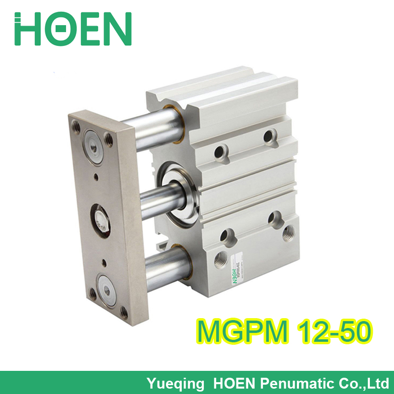 FREE SHIPPING SMC type MGPM 12-50 12mm bore 50mm stroke guided cylinder,slide bearing three rod air cylinders mgpm12-50 12*50(China (Mainland))
