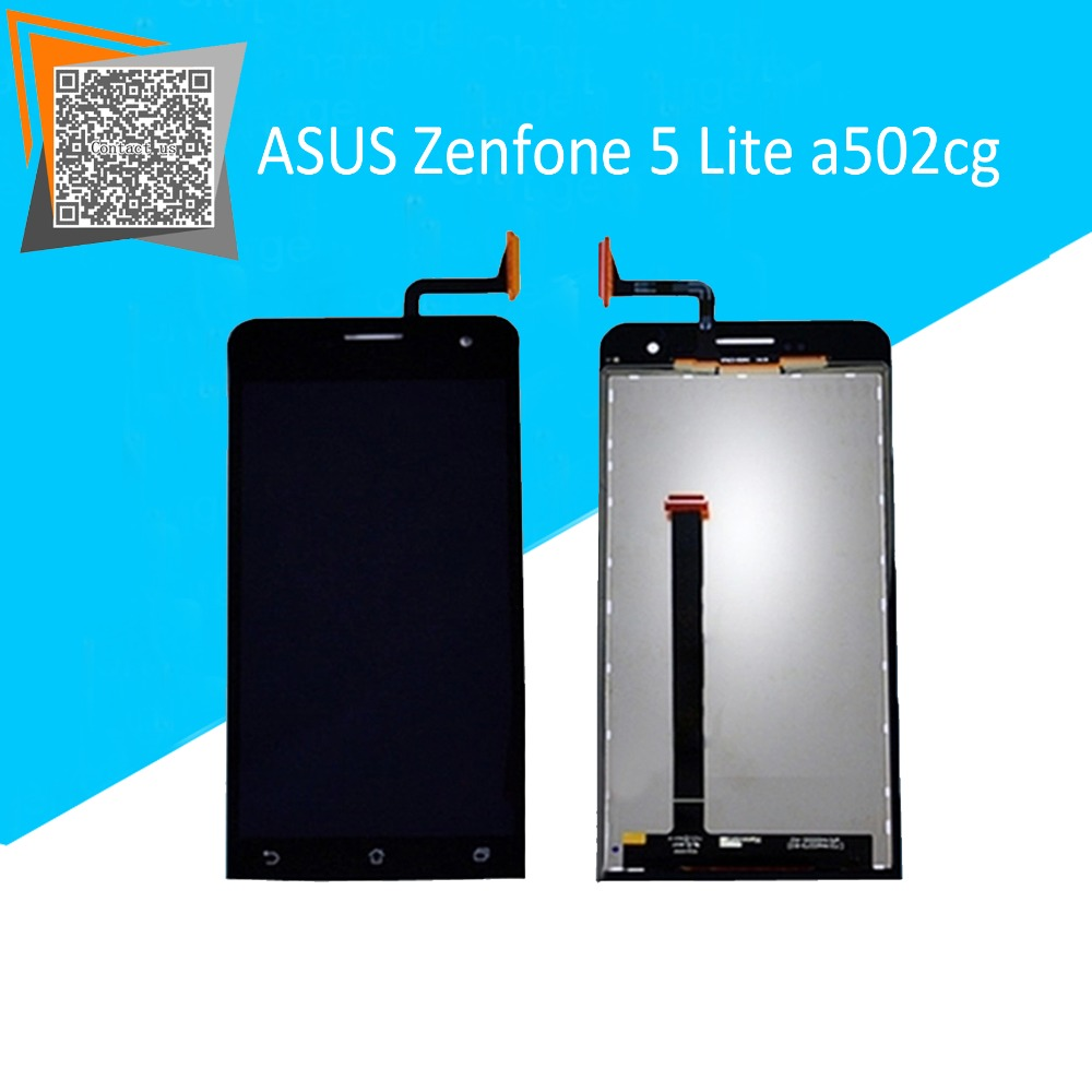 new original for asus zenfone 5 lite a502cg lcd display touch screen smartphone black. Black Bedroom Furniture Sets. Home Design Ideas