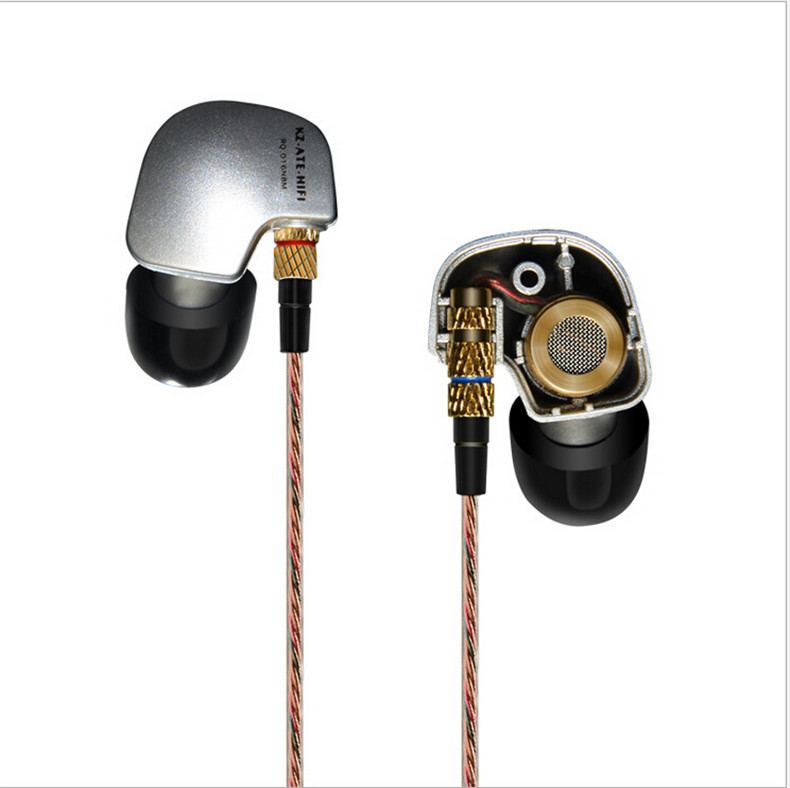 2015 NEW KZ ATE Copper Driver Ear Hook HiFi In Ear Earphone Sport Headphones For Running With Foam Eartips With Microphone(China (Mainland))